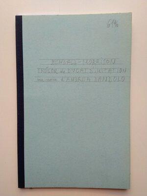 obverse: S. Bendall – C. Morrison. Un Trésor de Ducats d'Imitation au nom d'Andrea Dandolo (1343-1354). copied from Revue Numismatique 6 Série, Tome XXI, Paris 1979. 18 pages (with additional 1 table)
