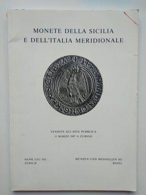 obverse: Auction Catalogue Monete della Sicilia e dell'Italia Meridionale. 79 pages (with additional 34 tables). Basel 1987