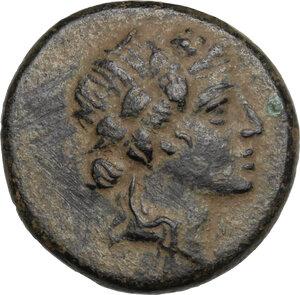 obverse: Pontos, Amisos.  Time of Mithradates VI Eupator (c. 85-65 BC).. AE 21 mm