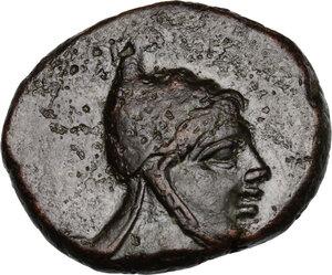 obverse: Pontos, Amisos.  Time of Mithradates VI Eupator (c. 85-65 BC).. AE 24.5 mm