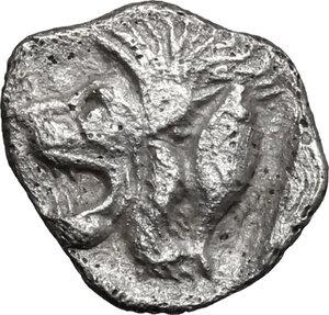 reverse: Mysia, Kyzikos. AR Hemiobol, 5th century BC