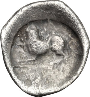 reverse: Central and Southern Campania, Phistelia. AR Obol, 325-275 BC