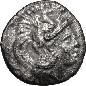 obverse: Northern Apulia, Arpi. AR Diobol, 325-275 BC