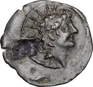 obverse: Syria, Seleucid Kings.  Alexander II Zabinas (128-123 BC).. AE 21 mm