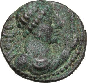 obverse: India, Kushan Empire.  Soter Megas (55-105).. AE Tetradrachm, 80-100