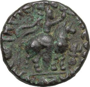 reverse: India, Kushan Empire.  Soter Megas (55-105).. AE Tetradrachm, 80-100