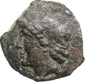 obverse: Zeugitania, Carthage. AE 20 mm, 221-210 BC