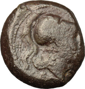 obverse: Anonymous.. AE Half Unit, Neapolis mint(?), after 276 BC