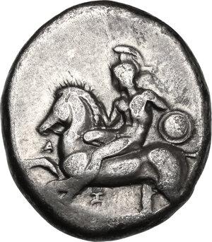 obverse: Southern Apulia, Tarentum. AR Nomos, circa 380-345 BC
