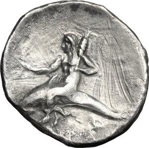 reverse: Southern Apulia, Tarentum. AR Nomos, 280-272 BC