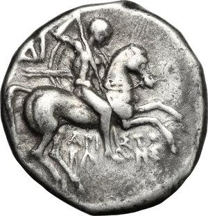 obverse: Southern Apulia, Tarentum. AR Drachm, 272-240 BC