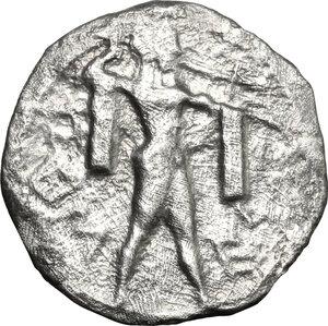 obverse: Lucania, Poseidonia-Paestum. AR Drachm, 530-500 BC