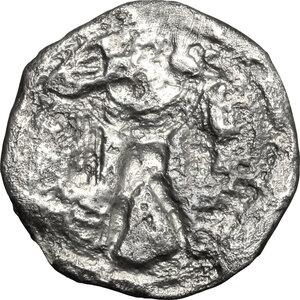 reverse: Lucania, Poseidonia-Paestum. AR Drachm, 530-500 BC