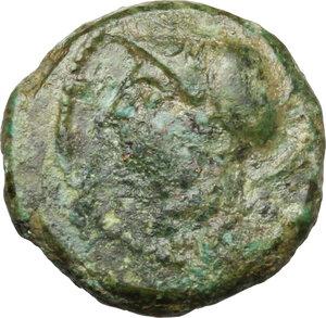 obverse: Bruttium, The Brettii. AE Sixth, 214-211 Bc