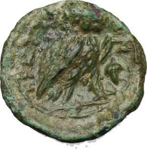 reverse: Bruttium, The Brettii. AE Sixth, 214-211 Bc