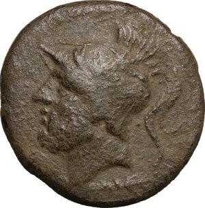 obverse: Bruttium, The Brettii. AE Double, 211-208 BC