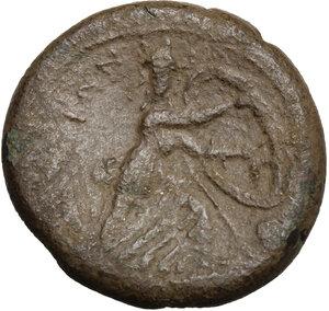 reverse: Bruttium, The Brettii. AE Double, 211-208 BC
