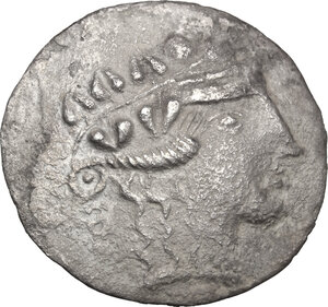 obverse: Celtic, Eastern Europe. AR Tetradrachm, Lower Danube Region, Imitation of Thasos, late 2nd-1st century BC