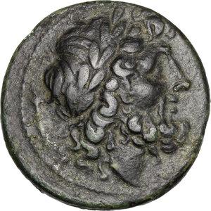 obverse: Bruttium, The Brettii. AE Unit, 211-208 BC