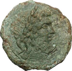 obverse: Bruttium, Vibo Valentia. AE As, circa 193-150 BC