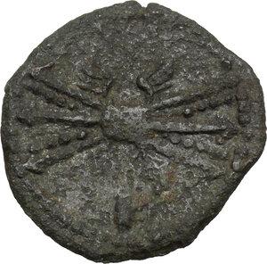 reverse: Bruttium, Vibo Valentia. AE 20 mm, circa 193-150 BC