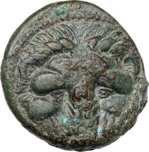obverse: Bruttium, Rhegion. AE 20. 5 mm, c. 351-280 BC