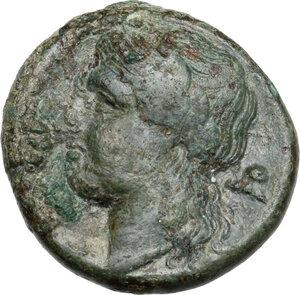 reverse: Bruttium, Rhegion. AE 20. 5 mm, c. 351-280 BC