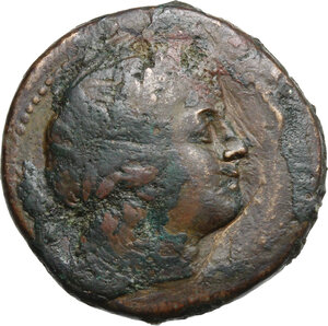 obverse: Bruttium, Rhegion. AE Tetrans, 215-150 BC