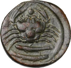 reverse: Akragas. AE Hexas, 425-406 BC