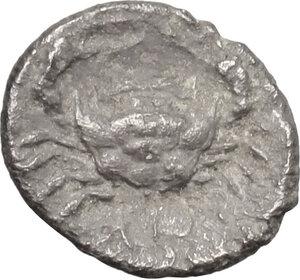 reverse: Akragas. AR Obol, before 413 BC
