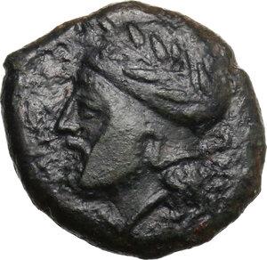 obverse: Entella.  Campanian mercenaries. AE 19 mm, before 404 BC