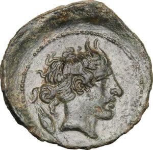 reverse: Gela. AE Tetras, 420-405 BC