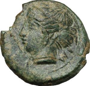 obverse: Himera. AE Hemilitron, before 407 BC