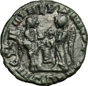 reverse: AE 17 mm, Barbaric imitation of a late Roman type of 4th century AD