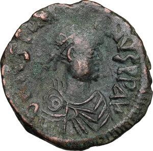 obverse: Justinian I (527-565).. AE Follis, Constantinople mint