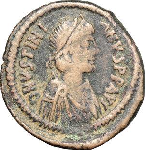 obverse: Justinian I (527-565).. AE Follis, Antioch mint, 528-532