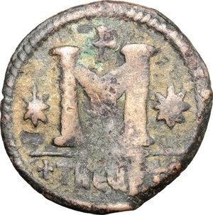 reverse: Justinian I (527-565).. AE Follis, Antioch mint, 528-532