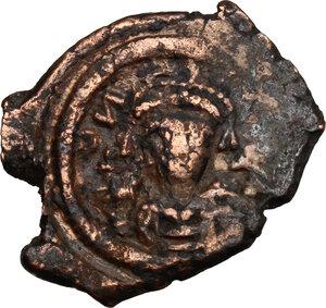 obverse: Uncertain emperor.. AE Half follis, Constantinople mint, c. 5th-7th century