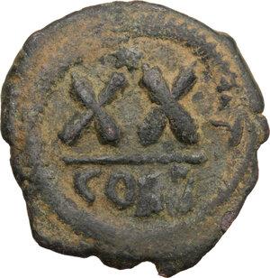 reverse: Phocas (602-610).. AE Half Follis, Constantinople mint