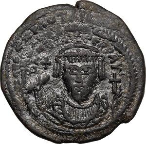obverse: Phocas (602-610).. AE Follis, Cyzicus mint, 607-608