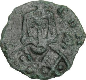 obverse: Leo V with Constantine (813-820).. AE Follis, Syracuse mint