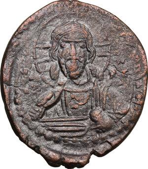 obverse: Romanus IV (1068-1071).. AE Follis,Constantinople mint