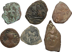 obverse: Lot of 6 byzantine and arab-byzantine denominations from the Holy Land