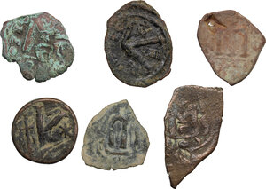 reverse: Lot of 6 byzantine and arab-byzantine denominations from the Holy Land