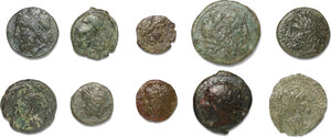 obverse: Greek Sicily.. Lot of 10 unclassified AE denominations
