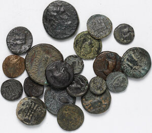 obverse: Greek World.. Lot of 29 unclassified AE denominations