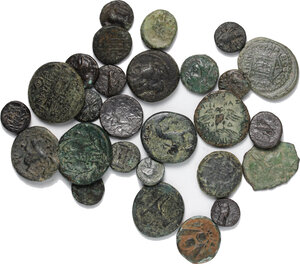obverse: Greek World.. Lot of 27 unclassified AE denominations