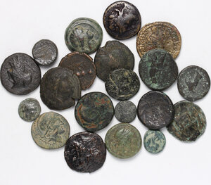 obverse: Greek World.. Lot of 20 unclassified AE denominantions