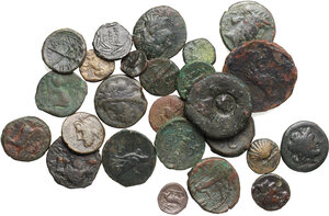 obverse: Greek World.. Lot of 25 unclassified AE denominations