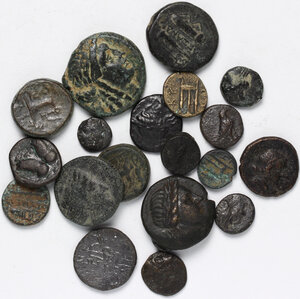 obverse: Greek World.. Lot of 20 unclassified AE denominations